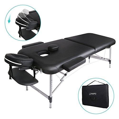 Naipo Table de Massage Cosmétique Lit de Massage Kiné Pliante Professionnel Portable Ergonomique...