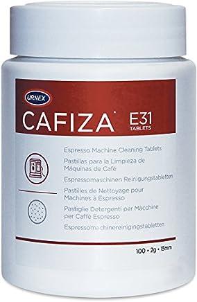 Urnex Cafiza Espresso Machine Cleaning Tablets, 100 Tablets - E31 2 Gram 15mm Tablets For