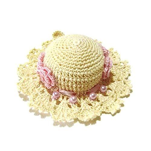 Cappellino puntaspilli sabbia e rosa all'uncinetto - Dimensione: ø 10.5 cm - Handmade - ITALY