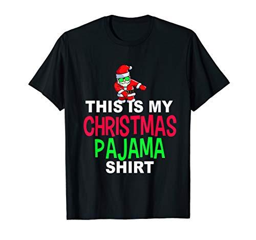 Santa Floss Dance Pajama Shirt | Dancing Santa PJ T-Shirt