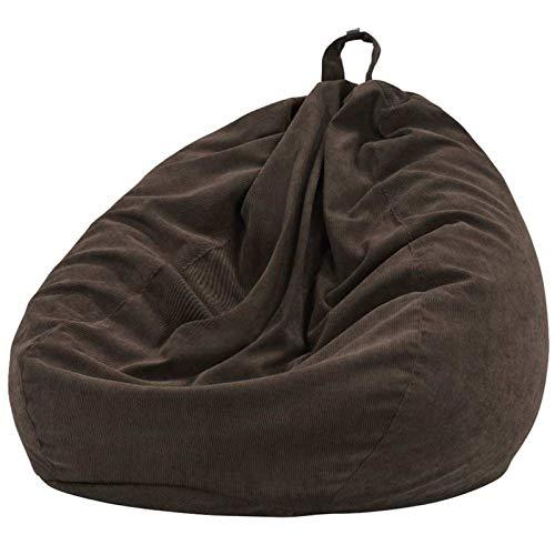 MJS 7Color Bolsa Silla Silla Lazy Sofas Cubierta Cubierta Cubierta con Forro Interior Cálido Cortado Cuarto Sillón Bolso Bolso Puf Puff Sofaque Tatami Sala de Estar (Color : Brown 70x80cm)