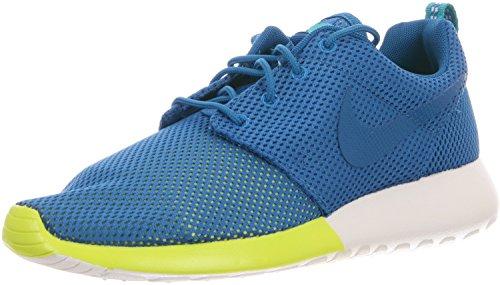 Nike Rosherun Men's Sneakers Military Blue/Turbo Green/Summit White 511881-400 (Size: 13)