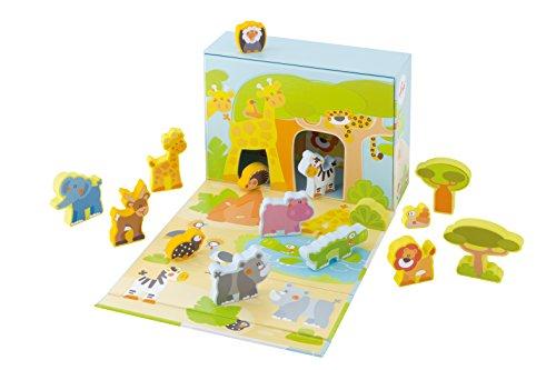 Sevi - 82853 - Figurine Animal - Play Case Savane