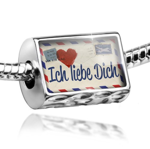 NEONBLOND Charm I Love You German Love Letter from Germany - Bead Fit All European Bracel
