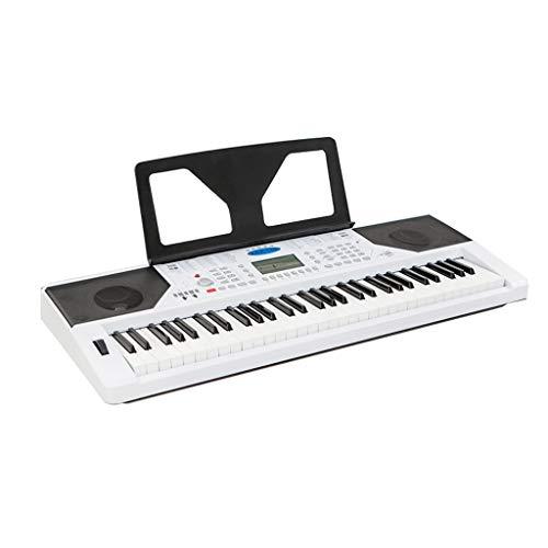 LIUFS-El teclado Teclado Inteligente Adulto Teclas Piano Imitación Para Niños Principiantes 61 Teclas Se Pueden Conectar APLICACIÓN (color : Blanco-Piano)