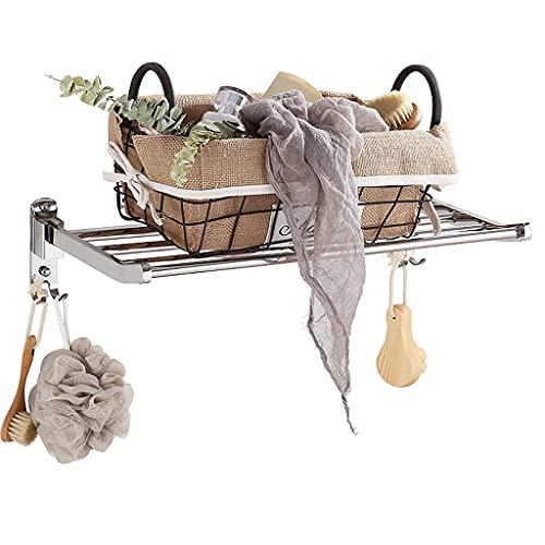QTWW Perchero Multifuncional para Toallas, tendedero Extensible, tendedero para Secado de Toallas, lavadero para Uso en Interiores y Exteriores, Secadora de Ropa para Balcones, baño, Dormitorio,