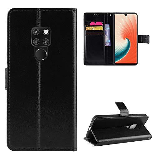 Snow Color Coque Huawei [Mate 20 X] Portefeuille, en Cuir Flip Case pour Bumper Protecteur Magnétique Fente Carte Housse Cover Coque pour Huawei Mate 20X - COBYU030462 Noir