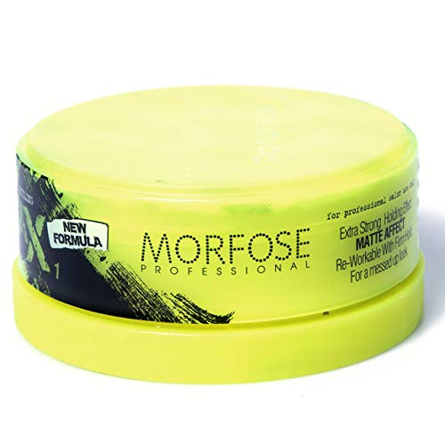 Morfose Neon Pro Hair Wax 150ml (Yellow- Matte Affect Extra Strong #1)