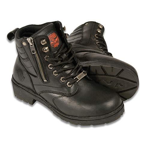 Milwaukee MBL9320-BLK-11 Women's Side Zipper Plain Toe Boots (Black, Size 11)