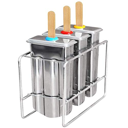 ShenMiDeTieChui Hielo en la Forma de Tallo y el Marco, el Conjunto de Fabricantes de Hielo Libre de BPA, la máquina de Hielo, el Conjunto de 3 Acero Inoxidable Reutilizable (Color : A)