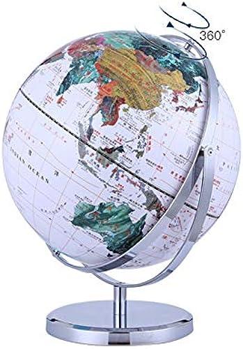 Globus Größer 32 cm Durchm Klassischer -360 ° Drehung - Weiß - Modell JSL097