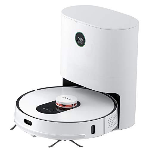 ROIDMI EVE Plus Roboter-Staubsauger und Moppreiniger, automatische Vakuumstation, mit Staubbeutel, Lasernavigation, Wischfunktion, 2700Pa Leistungsstarke Saugleistung, Anwendung und Sprachkontrolle