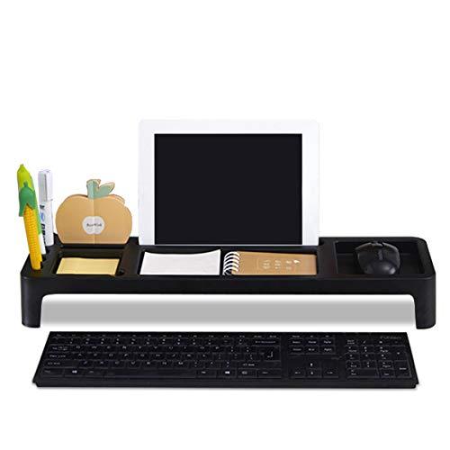 MARSACE Organizador de Escritorio Sencillo Teclado de Almacenamiento de Productos Estante Multifunción Escritorio de Organizador Pequeño Objetos para Portátil Teléfono Papelería Negro