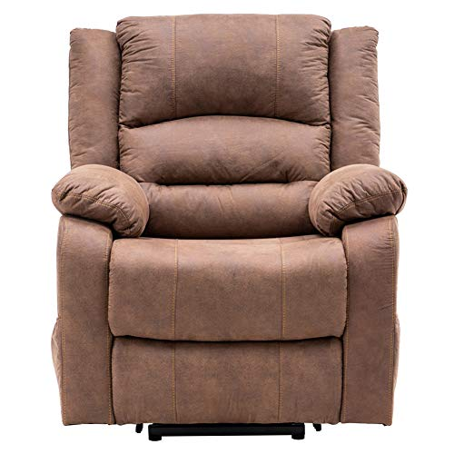 Recliner Chair Power Lift Single Sofa for Elderly Electric Massage Recliner Sofa with Side Pockets Modern Reclining Chair Easy Lounge for Living Room