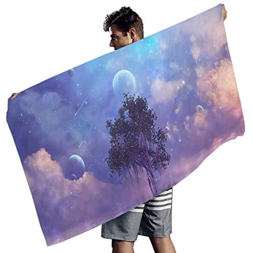 Fantasy Baum Planet Sternenhimmel Druck Badetuch Fantasie Handtücher White 150x75 cm
