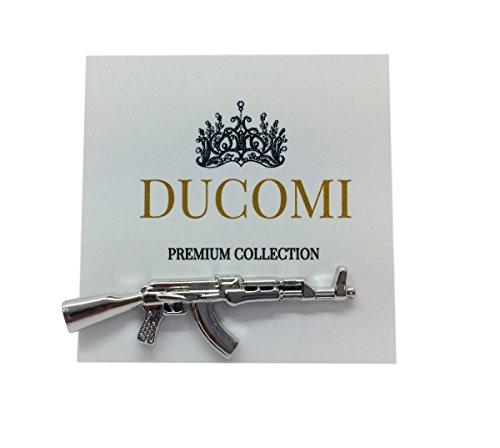 Ducomi Le Clip – Alfiler de corbata para hombre con acabado plateado – Paquete de regalo incluido – Accesorio de estilo y elegancia – Variedad de modelos buscados y originales – Ideas de regalo