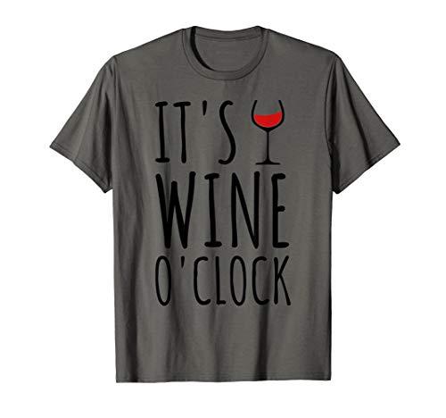 It's Wine O'Clock Wein Spruch Weinglas Rotwein Zeit Geschenk T-Shirt