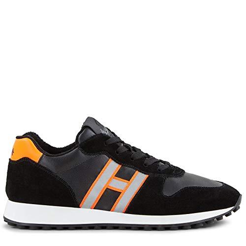 Hogan h429 Herren Men Shoes Sneaker Schuhe Lederschuh Wildleder Leather Schwarz - Schwarz - Black- Nero - Größe: 10