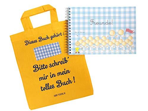 Cherry Picking Freundebuch Kindergarten Kindergartenfreunde Poesiealbum mit Tasche GELB