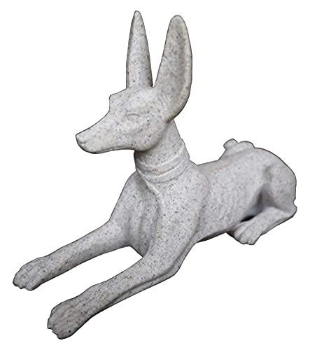 WQQLQX Statue Anubis Skulptur Ägyptische Hund Statue Heimdekoration Handwerk Desktop Dekoration Outdoor Garden Art Deco Animal Figuren Geschenke Skulpturen