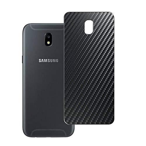 Vaxson 2 Unidades Protector de pantalla Posterior, compatible con Samsung Galaxy J5 2017, Película Protectora Espalda Skin Cover - Fibra de Carbono Negro