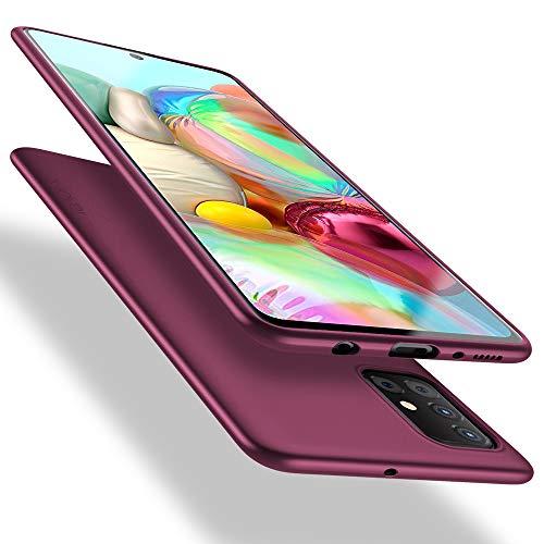 X-level Cover Samsung Galaxy A71 (Non 5G), [Guardian Series] Ultra Sottile e Morbido TPU Protettiva Custodia Silicone Rubber Protezione Cover per Samsung Galaxy A71, Vino Rosso