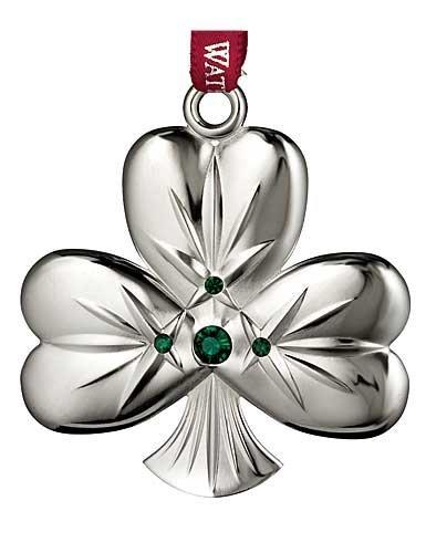 Waterford Silver 2014 Shamrock Ornament