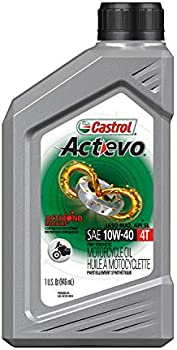 6-Pack Castrol 06130 Actevo 10W-40 Part Synthetic 4T Motorcycle Oil