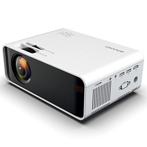 """Mini Portable Projector,1080p Full HD Support, Home Cinema Projector 200"""" Display Supported,Compatible with HDMI/VGA/USB/Laptop/TV Stick/PS4 etc.for Home Office( White ) (Android model)"""