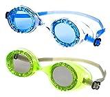 DOLFINO Child 2 Pack Swim Goggles Blue/Green Swimming Pool Kids Water Play Glasses Training WLM8 14587