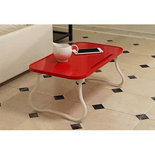 Table De Camping Pliante Lit en Plastique Pliant Électrique Moderne Dortoir Paresseuse Apprentissage Multifonctionnel Petit Bureau Shcro (Color : Red)