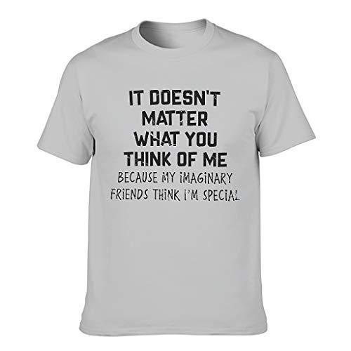 Camiseta divertida para hombre, camiseta básica Gris plateado. XXXXL