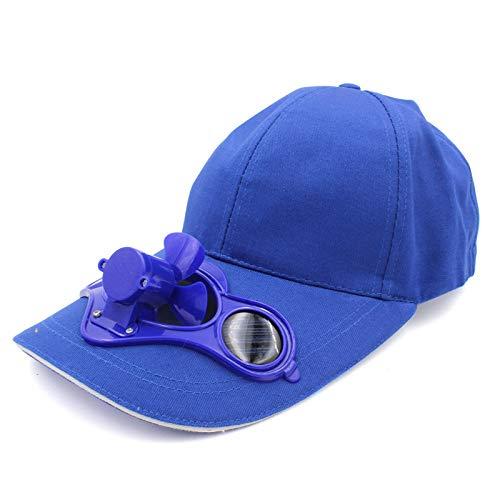 IOIOA Solarbetriebene Fan Baseball-Mütze Cooling Fan Cap Große Camping Wandern Schirmmütze für den Sommer im Freien Entlasten Schwül Gefühl,D