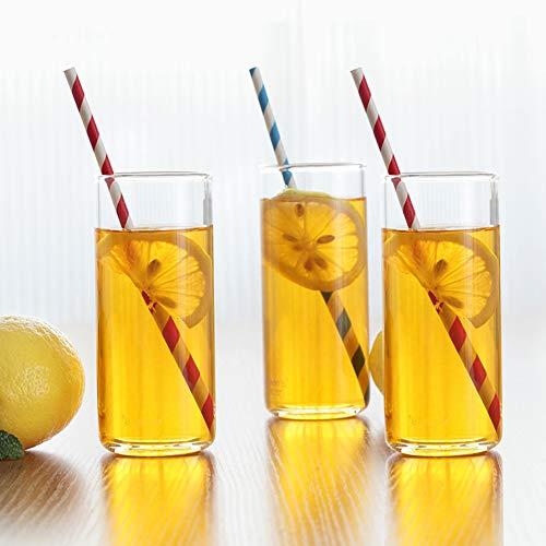 Tumblers Highball, Juego de cristalería para Agua, Jugo Cerveza, Vino, Whisky