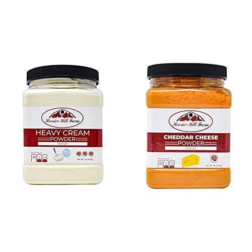 Hoosier Hill Farm Heavy Cream Powder Jar, 1 Pound & Gourmet...