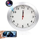 TTCDBF Hidden Spy Camera Wall Clock, HD 1080P WiFi Wall Clock Camera Wireless Nanny Cam with Motion Detection Alarm, Real-Time Video Mini Video Recorder for Home and Office. No Audio.