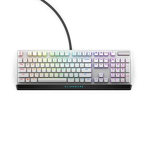 Dell Alienware 510K Low-Profile RGB Mechanical Gaming Keyboard Lunar Light