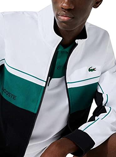 Lacoste Herren SH9543 Sweatjacke, Männer Sweatshirt Reißverschluss,Regular Fit,Weiß,7