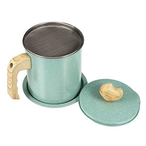 Angoily Recipiente de Grasa de Tocino con Colador Recipiente de Grasa de Acero Inoxidable Olla de Almacenamiento de Aceite Recipiente de Grasa de Tocino Cocina Cocina