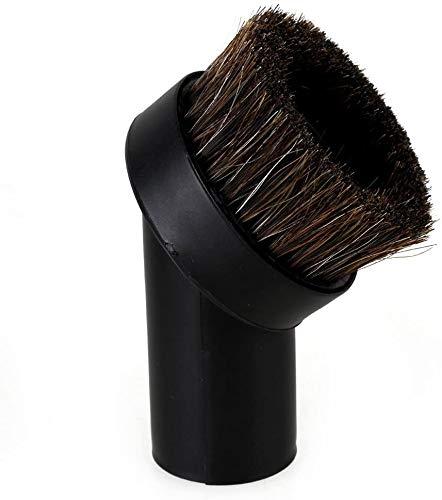 Round Dusting Brush, Universal Soft Horsehair Bristle Vacuum Cleaner Dust Brush for Most Vacuum Cleaners Accessories