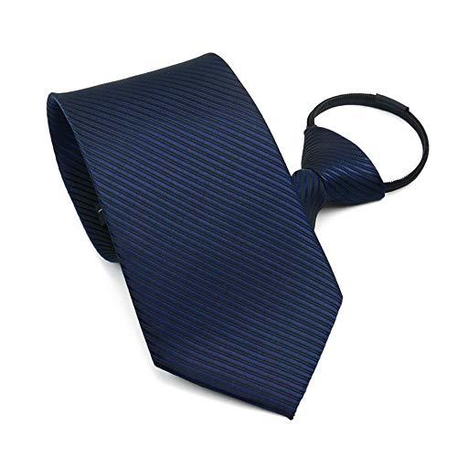 YYB-Tie Mode binden Herren Krawatte Business Kleid Einfache Reißverschluss Krawatte für Hochzeit Bräutigam Groomsmen (Farbe : Blau)