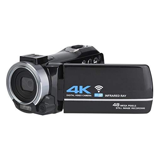 Gaeirt Cámara Digital 4K Ultra HD, Cámara Inteligente CMOS de 8 MP Rotación de 270 ° Cámara con Pantalla IPS HD de 3.0 Pulgadas Cámara con Control Remoto con Zoom 16X Y Recargable