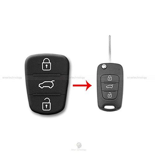 1neiSmartech Tastatur Tasten Gummi Schlã¼Ssel Fernbedienung Auto 3Tasten Hyundai I20I30Und Kia Sorento Picanto