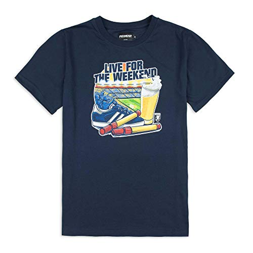 T-Shirt Live for The Weekend Navy M
