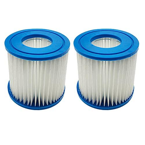 WuYan Cartucho de filtro para tipo D VII, cartucho de repuesto compatible con Bestway Intex tipo D filtro de piscinas termales de resorte, paquete de 2