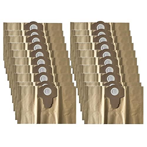 Bolsas de aspiradora 20 bolsas de filtro de papel, adecuadas para aspiradora Parkside húmedas PNTS 30 PNTS 1250/9 PNTS 1300 PNTS 1400 PNTS 1500