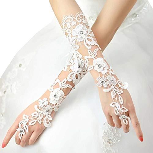Gants de mariée mariage robe de soirée dentelle longs gants A17