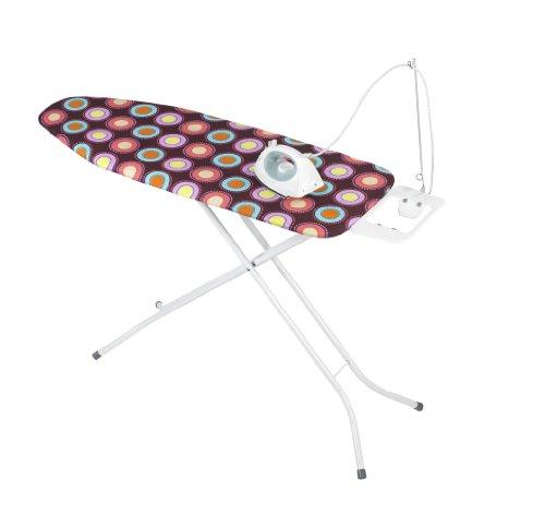 WENKO 1412761100 strijkplank Jumbo, gepoedercoat metaal, 120 x 95 x 42 cm, wit