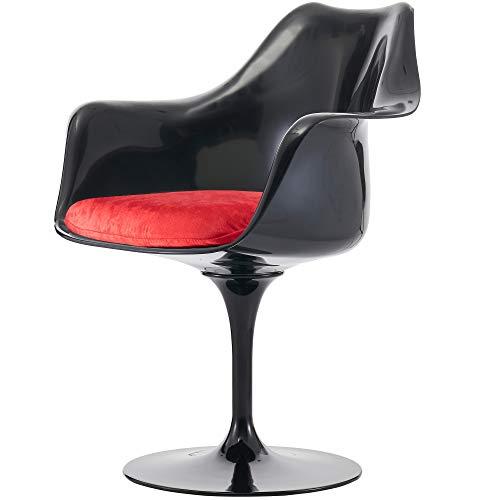 Eero Saarinen nero e lussuoso rosso tulipano stile poltrona