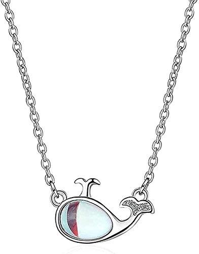 NC83 Collana Moda Donna Collana Eleg Dolphin Collana Piccola Fresco Breve Clavicola Catena Ragazza Dolce Pesce Diamante Pend Fashion
